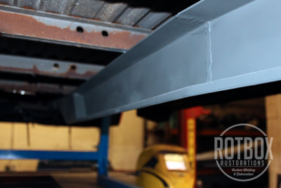 VW T2 early bay chassis welding repair