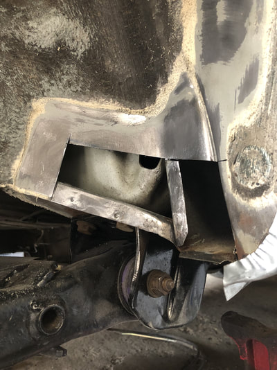 VW MK2 Golf Inner Rear Arch Welding Repair