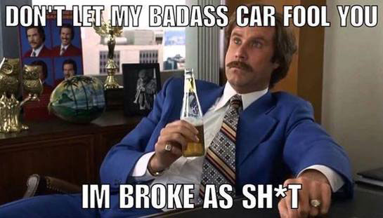 funding a car project when you're broke