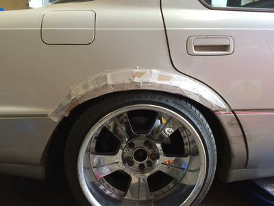 Lexus LS400 custom lowrider rear flared arches