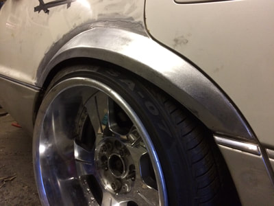 Lexus LS400 drift car flared arches