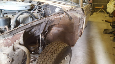 Mercedes Benz 350SL restoration project